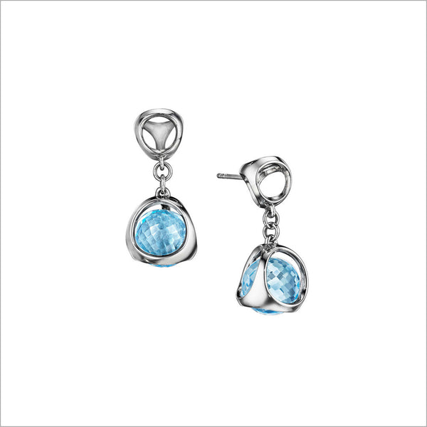 Icona Blue Topaz Earrings in Sterling Silver