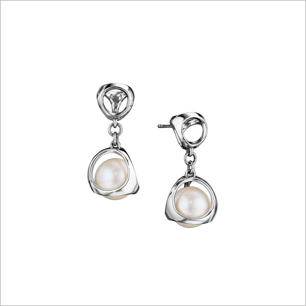 Icona Pearl Earrings In Sterling Silver