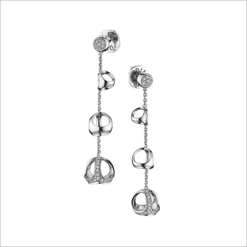 Triadra 18K White Gold & Diamond Earrings