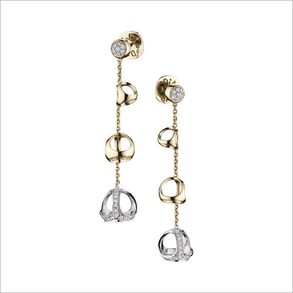 Triadra 18K Gold & Diamond Earrings