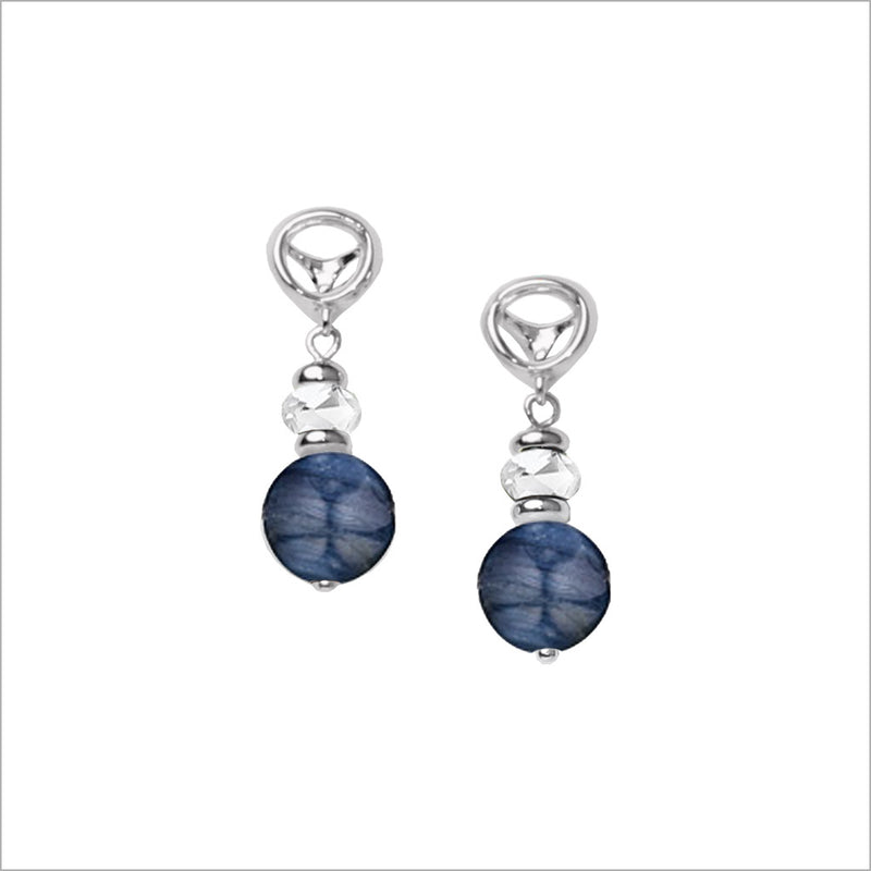 Icona Blue Kyanite Drop Earrings in Sterling Silver