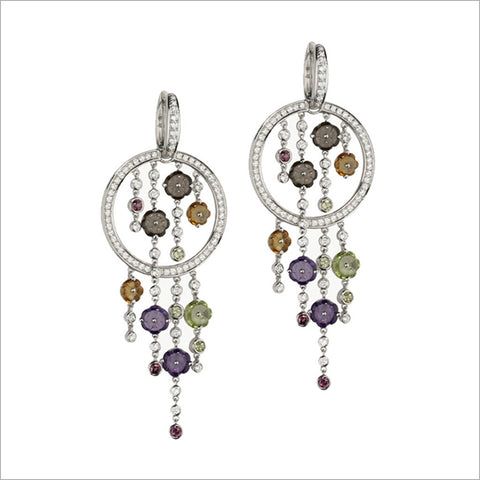 Tempia 18K White Gold & Multi-Stone Earrings