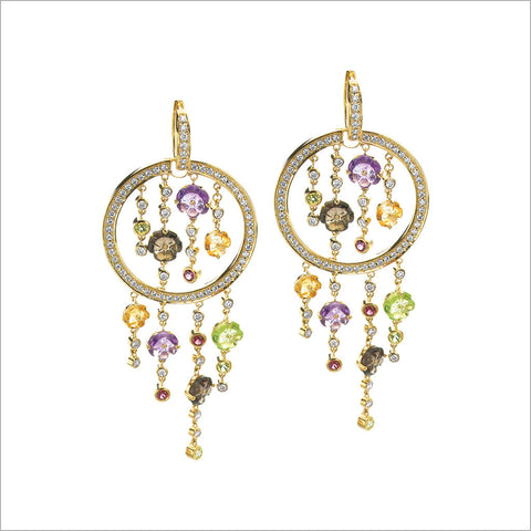 Tempia 18K Yellow Gold & Multi-Stone Earrings with Diamonds