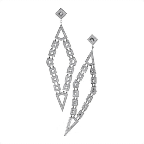 Quadria 18K White Gold & Diamond Earrings