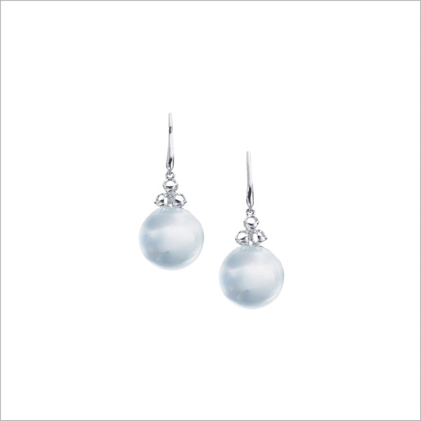 Icona Sterling Silver & Mother of Pearl Bubble Earrings