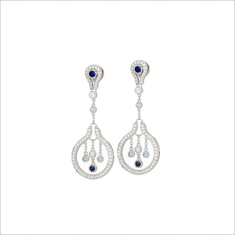 Tempia 18K Whtie Gold & Blue Topaz Earrings