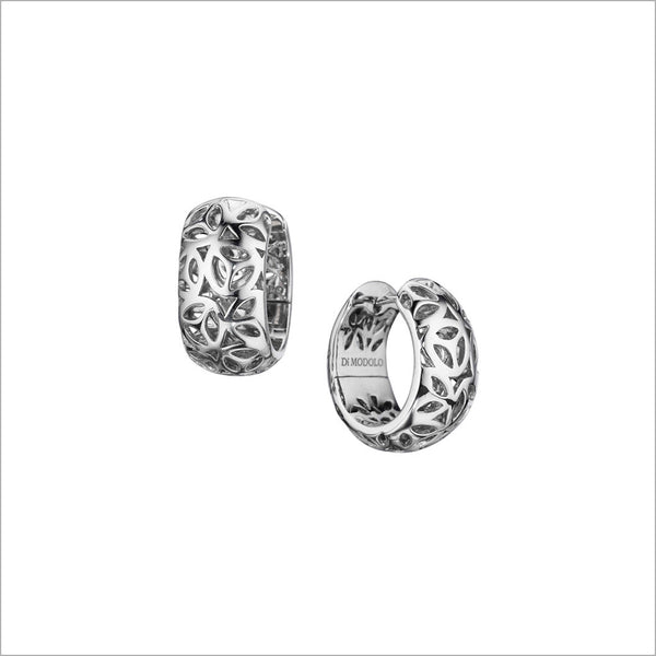 Sahara Huggie Earrings in Sterling Silver plated with Rhodium