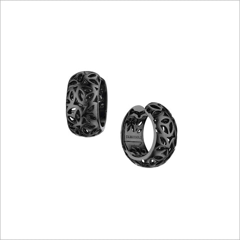 Sahara Black Rhodium Huggie Earrings in Sterling Silver