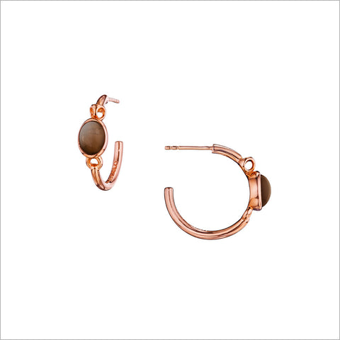 Lolita Rose & Smoky Quartz Hoop Earrings