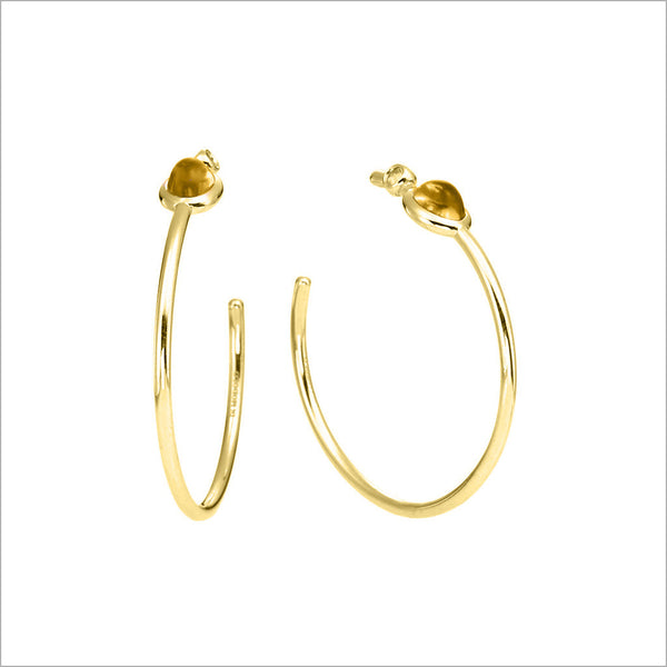 Lolita Citrine Hoop Earrings in Sterling Silver plated with 18k Yellow Gold