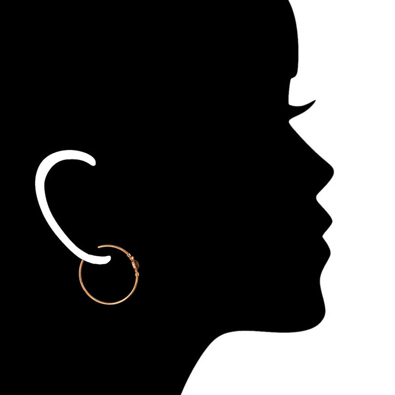 Lolita Smoky Quartz Hoop Earrings in Sterling Silver plated with 18k Rose Gold