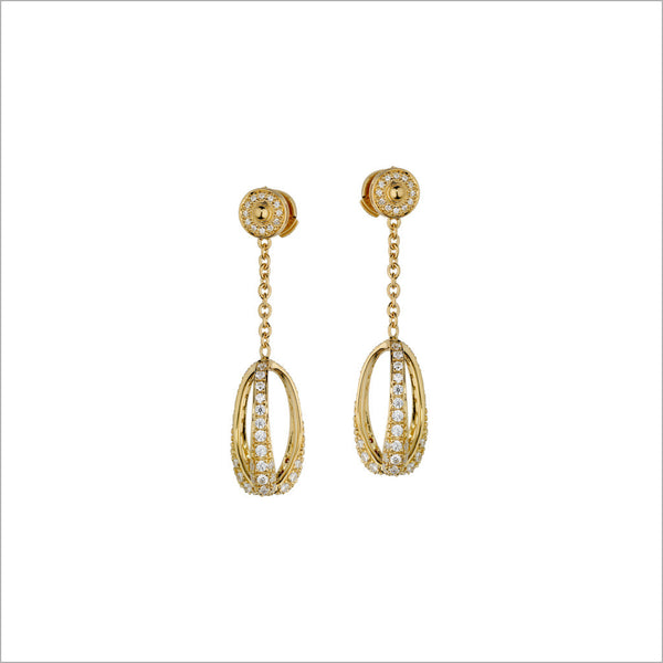Triadra 18K Yellow Gold & Diamond Earrings