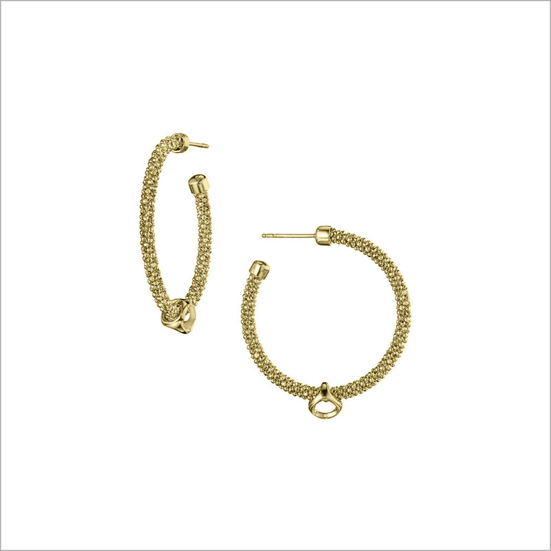 Linked By Love Hoop Earrings in Sterling Silver Plated in Gold