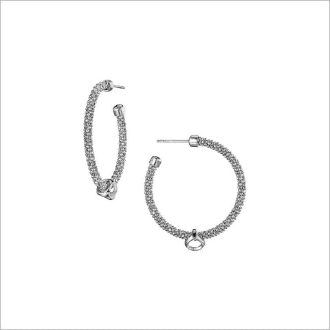 Linked By Love Sterling Silver Hoop Earrings