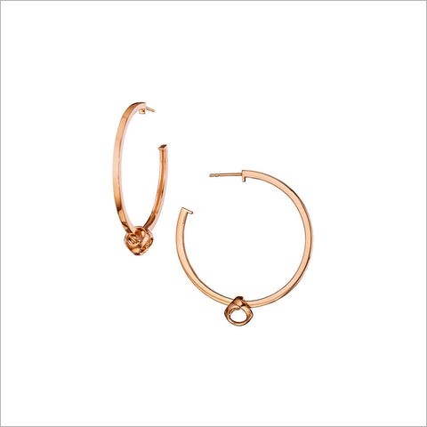 Icona Hoop Earrings in Sterling Silver plated with 18k Rose Gold