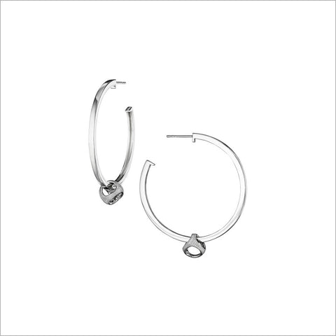 Icona Hoop Earrings in Sterling Silver