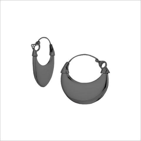 Sahara Black Rhodium Earrings in Sterling Silver with Diamonds