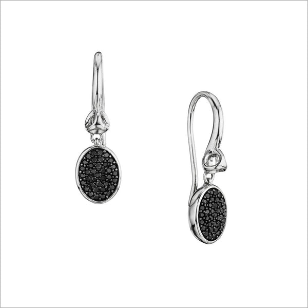 Lolita Black Diamond Earrings in Sterling Silver