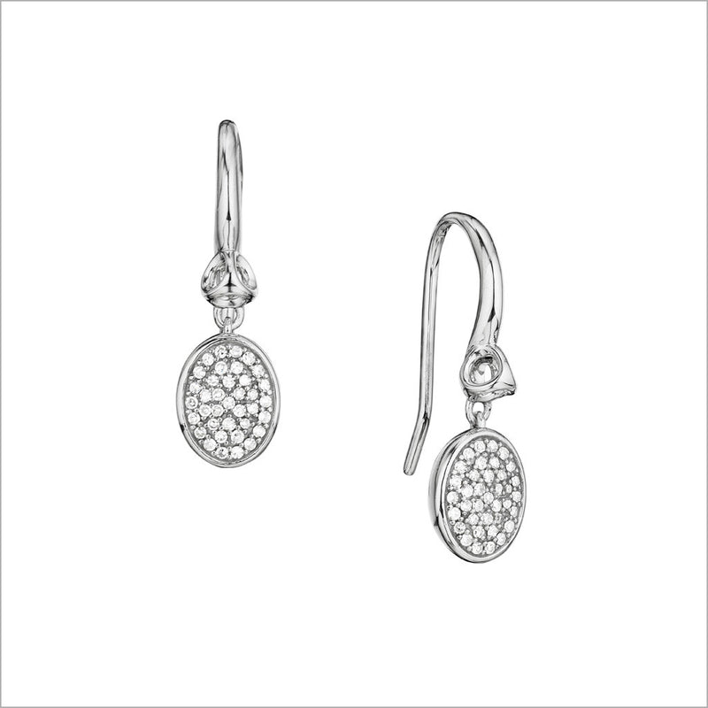 Lolita Diamond Earrings in Sterling Silver