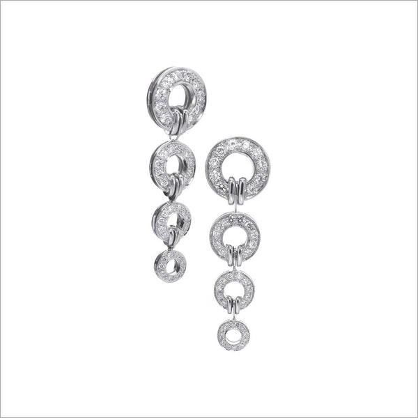 Tempia 18K White Gold & Diamond Earrings