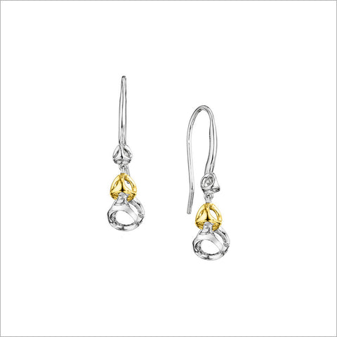 Linked By Love Sterling Silver & 18k Gold Dangle Earrings