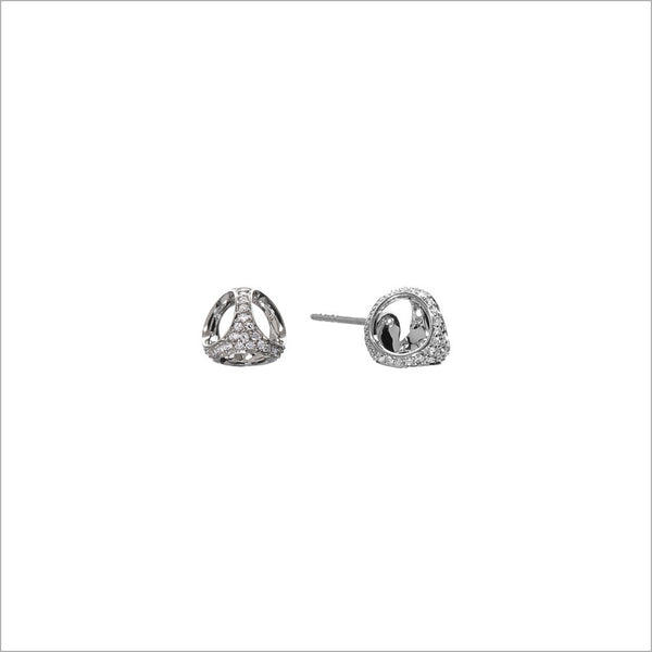 Triadra 18k Gold & Diamond Stud Earrings