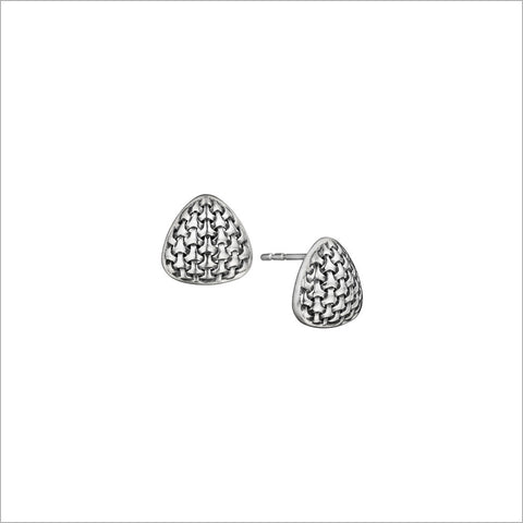 Ricamo Silver Stud Earrings