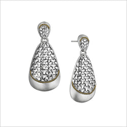 Ricamo Sterling Silver & 18k Yellow Gold Plated Earrings