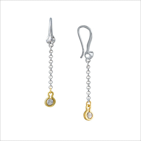 Diamante 18K Gold & Sterling Silver Dangle Earrings