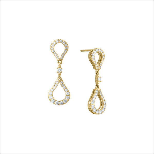 Fiamma 18K Yellow Gold & Diamond Earrings