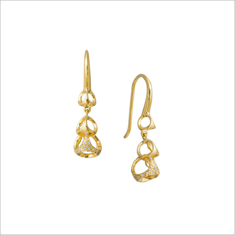 Linked By Love 18K Gold & Diamond Earrings