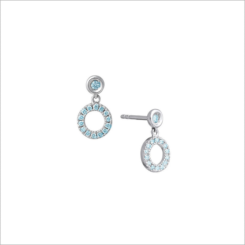 Eterno 18K White Gold & London Blue Topaz Earrings