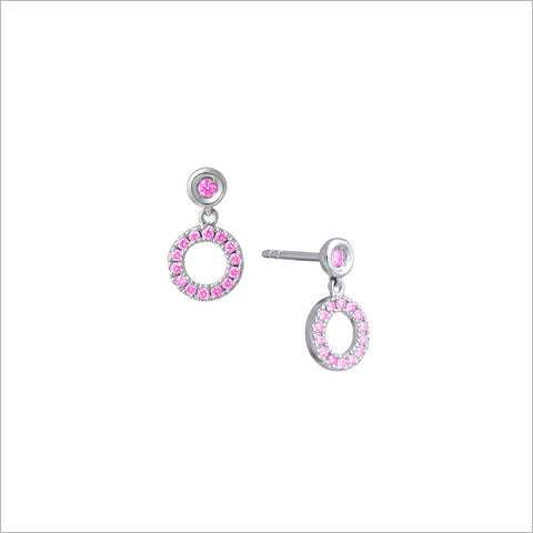 Eterno 18K White Gold & Pink Sapphire Earrings