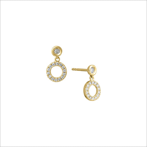 Eterno 18K Gold & London Blue Topaz Earrings