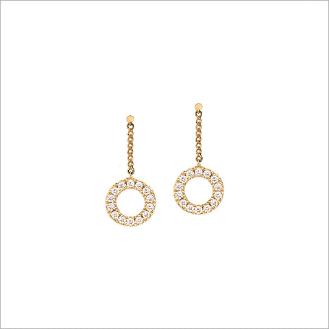 Eterno 18K Yellow Gold & Diamond Earrings