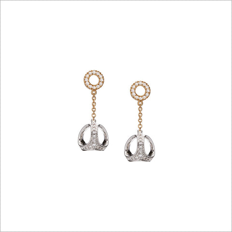 Eterno 18K Yellow and White Gold & Diamond Earrings