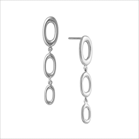 Allegra 18K White Gold Earrings