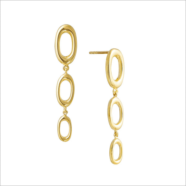 Allegra 18K Yellow Gold Earrings
