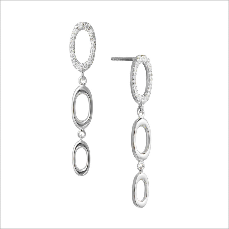 Allegra 18K White Gold Earrings with Diamonds