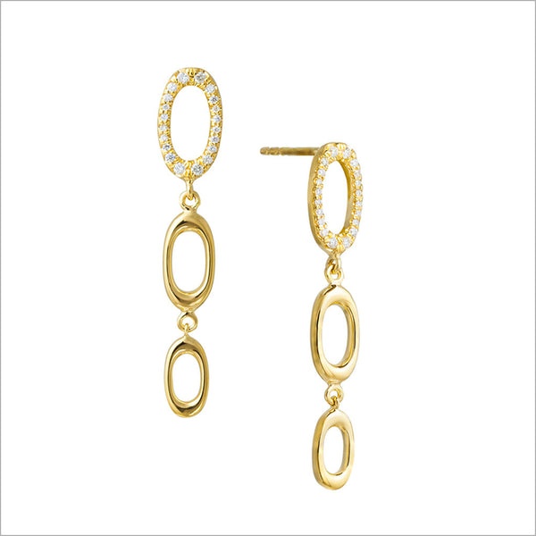 Allegra 18K Yellow Gold Earrings with Diamonds