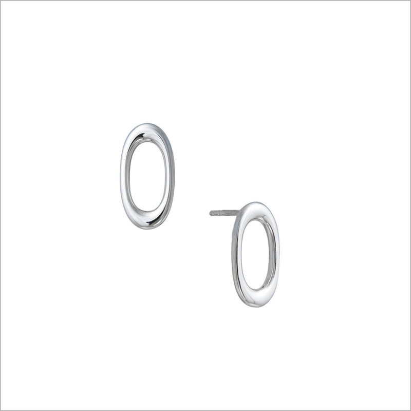 Allegra 18K White Gold Stud Earrings