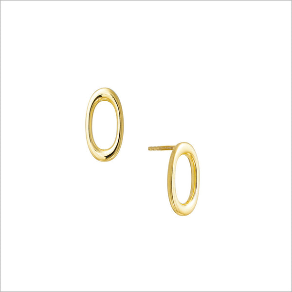 Allegra 18K Yellow Gold Stud Earrings
