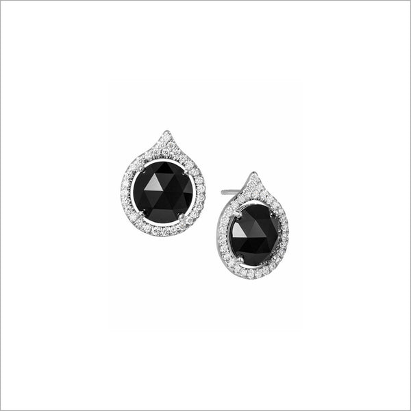 Giulietta 18k White Gold & Black Onyx Earrings with Diamonds