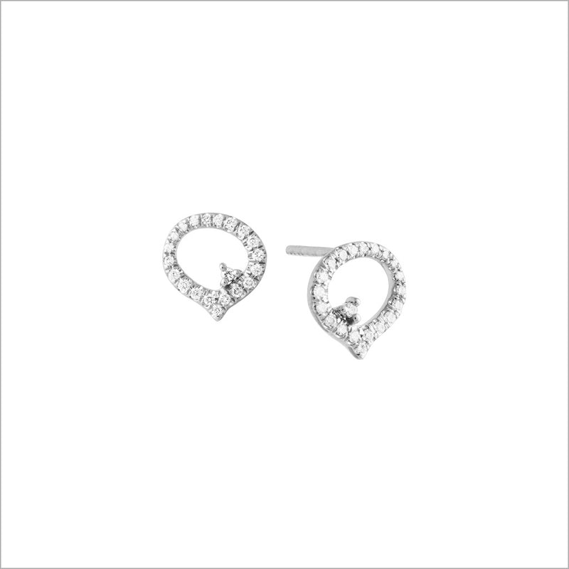 Giulietta 18K Gold & Diamond  Stud Earrings