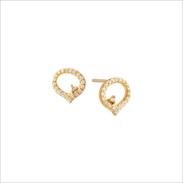 Giulietta 18K Yellow Gold & Diamond Earrings
