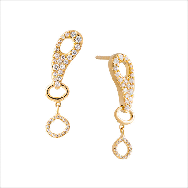 Giulietta 18K Gold & Diamond Earrings