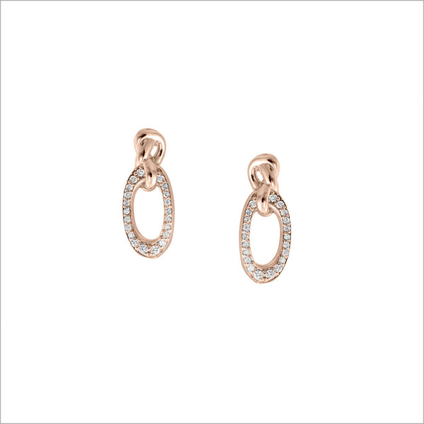 Nodo 18K Rose Gold & Diamond Earrings