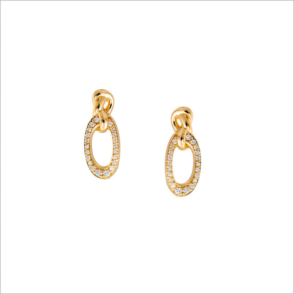 Nodo 18K Yellow Gold & Diamond Earrings