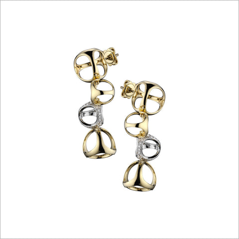 Triadra 18K Gold Earrings