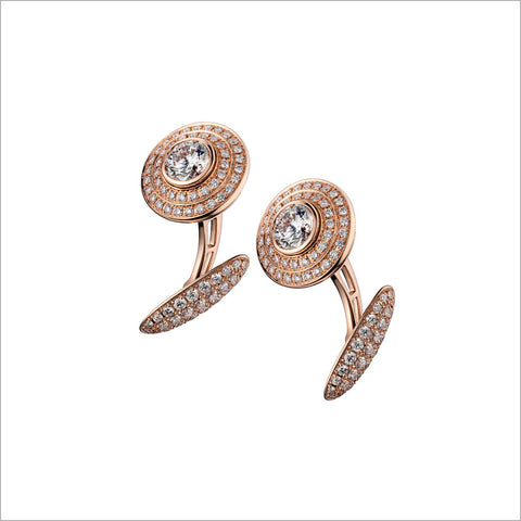 Men's 18K Rose Gold High End Cufflinks with Diamonds